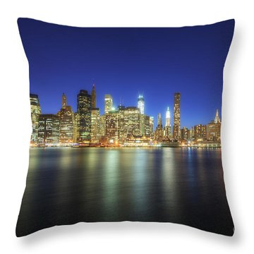 Manhattan Nite Lites Nyc Throw Pillow