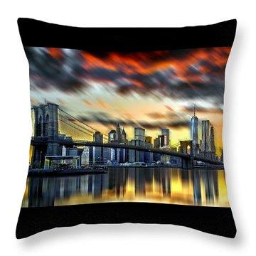 Manhattan Passion Throw Pillow by Az Jackson