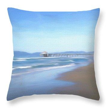 Throw Pillow featuring the photograph Manhattan Pier Art by Michael Hope