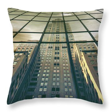 Throw Pillow featuring the photograph Manhattan Reflected by Jessica Jenney