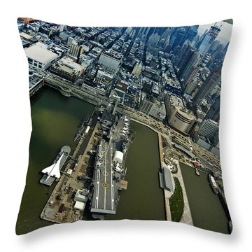 Manhattan Throw Pillow by Robert Lacy
