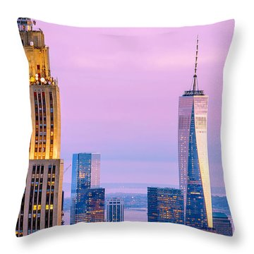 Manhattan Romance Throw Pillow