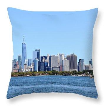 Manhattan Skyline 1 Throw Pillow