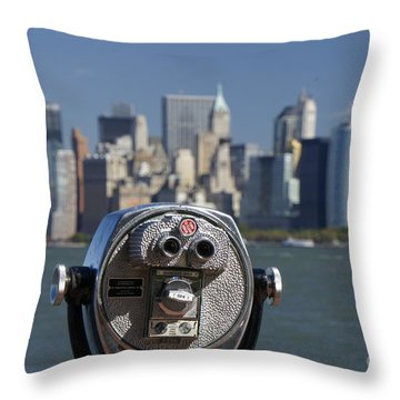 Throw Pillow featuring the photograph Manhattan Skyline New York  by Juergen Held