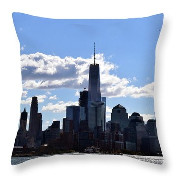 Manhattan Skyline No. 17-1 Throw Pillow