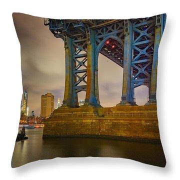 Manhattan Steel Throw Pillow