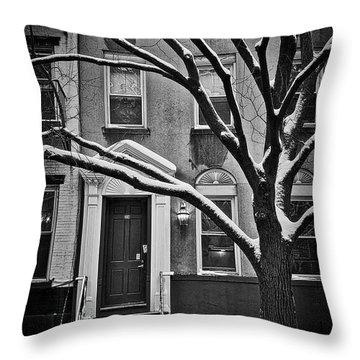 Manhattan Town House Throw Pillow