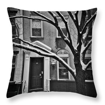 Manhattan Town House Throw Pillow