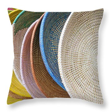 Manhattan Wicker Throw Pillow