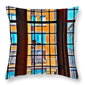 Manhattan Windows Throw Pillow