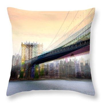 Manhattan X3 Throw Pillow