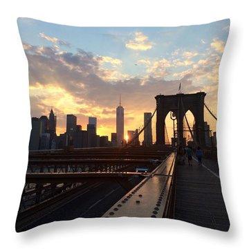 Manhattanhenge Throw Pillow