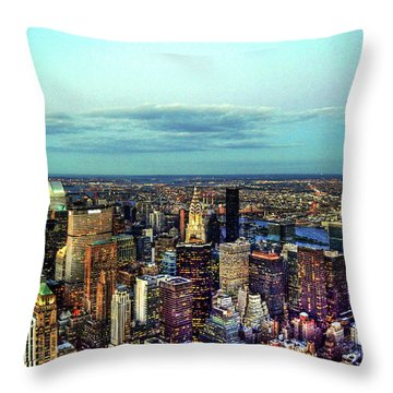 Manhattan's Upper East Side Throw Pillow by Randy Aveille