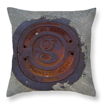 Manhole IIi Throw Pillow by Flavia Westerwelle