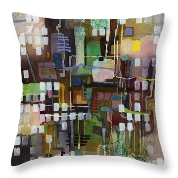 Throw Pillow featuring the painting Manifold by Hailey E Herrera