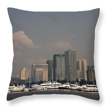 Manila Bay.  Throw Pillow