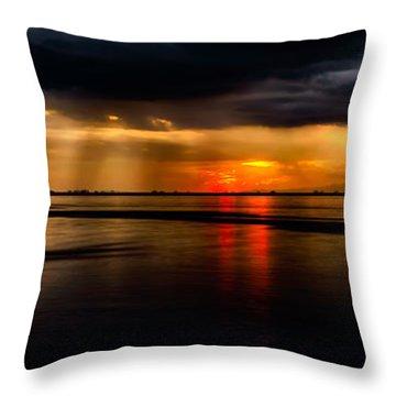 Manila Bay Sunset Throw Pillow