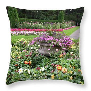 Manito Park Garden 1 Throw Pillow by Ellen Tully