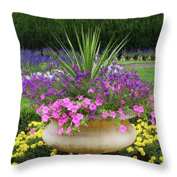 Manito Park Garden 2 Throw Pillow by Ellen Tully