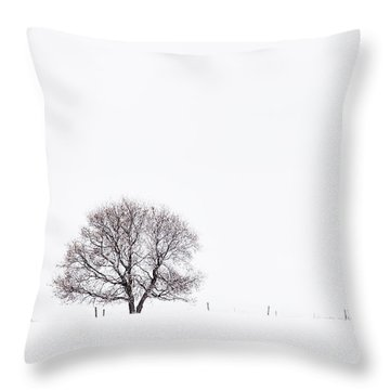 Manitoba Winter Throw Pillow by Yvette Van Teeffelen