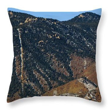 Manitou Incline Photographed From Red Rock Canyon Throw Pillow