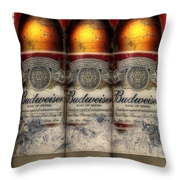 Manitowoc Bud Throw Pillow