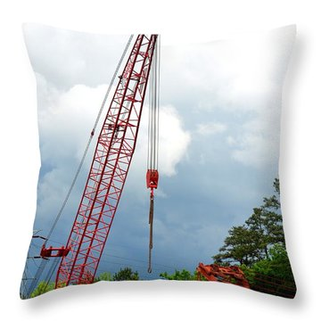 Manitowoc Crane 2015 Throw Pillow