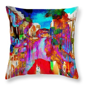 Mankey Painted Reindeer In Italy  Throw Pillow
