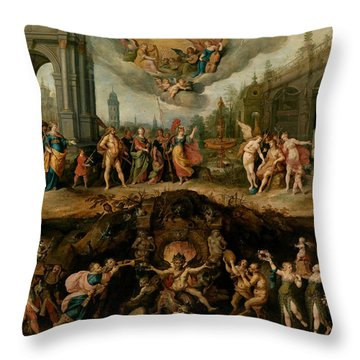Mankind's Eternal Dilemma, The Choice Between Virtue And Vice Throw Pillow