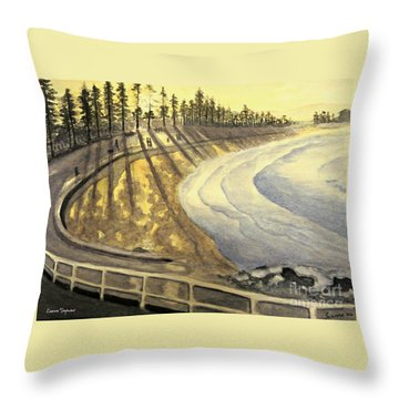 Manly Beach Sunset Throw Pillow