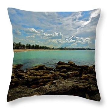 Manly Bliss Throw Pillow