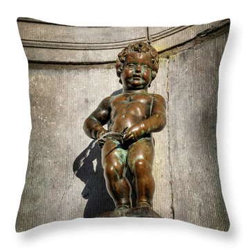 Manneken Pis Brussels Belgium  Throw Pillow