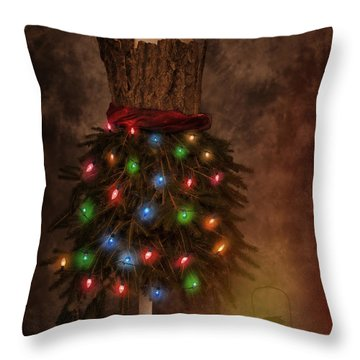 Mannequin Dressed For Christmas Throw Pillow