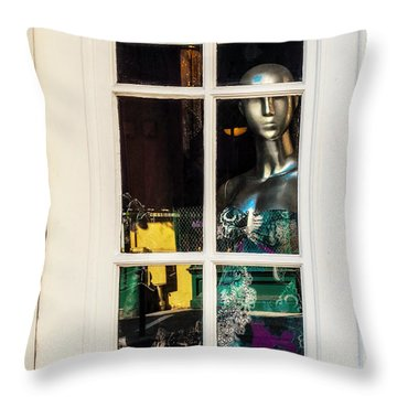 Mannequin Reflecting Throw Pillow