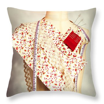 Mannequin With Colour Swatches Throw Pillow