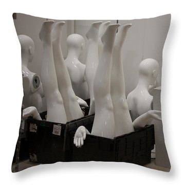 Mannequins Throw Pillow