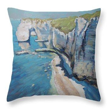 Manneport, The Cliffs At Etretat Throw Pillow