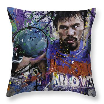 Manny Pacquiao Throw Pillow by Richard Day