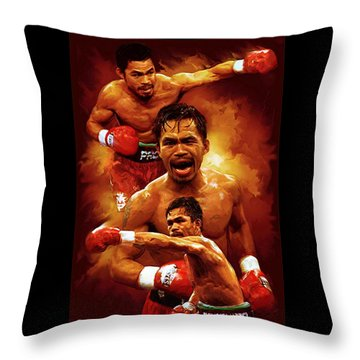 Manny Pacquio Throw Pillows