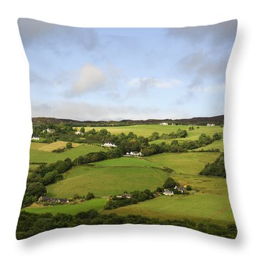Throw Pillow featuring the photograph Manors On A Hillside by Christi Kraft