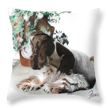 Mans Best Friend Throw Pillow