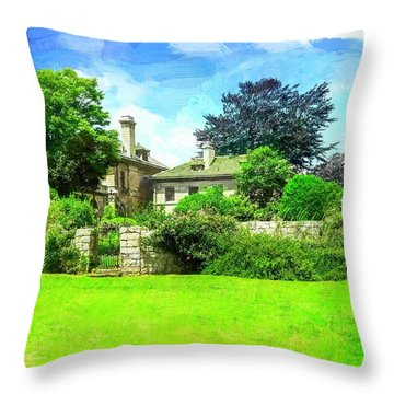 Mansion And Gardens At Harkness Park. Throw Pillow