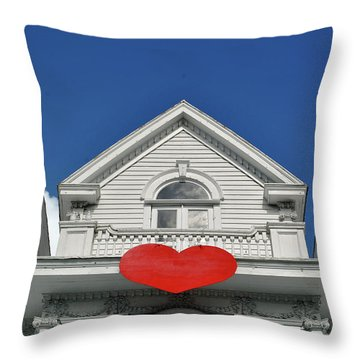 Throw Pillow featuring the photograph Mansion Of Love by Jost Houk