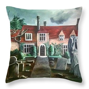 Mansion Throw Pillow by Persephone Artworks