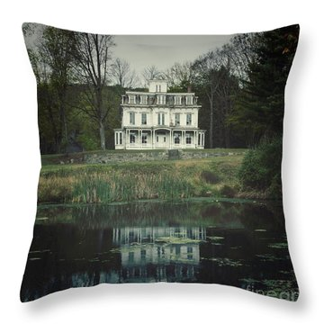 Mansion Reflected At Waterloo Throw Pillow