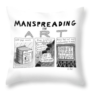 Manspreading In Art Throw Pillow