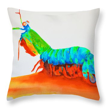 Mantis Shrimp Throw Pillow