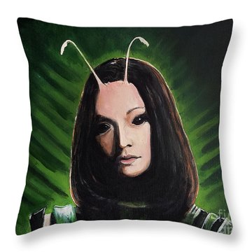 Mantis Throw Pillow by Tom Carlton