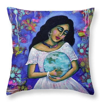 Mantras Throw Pillow