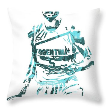 Manu Ginobili Argentina Pixel Art Throw Pillow